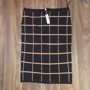Spense Pencil skirt Brown/Black